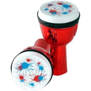 非洲鼓型多音效沙鈴電鍍型-奇巧玩具廠