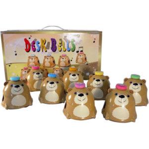 桌上鐘鈴-咖啡熊-奇巧玩具廠