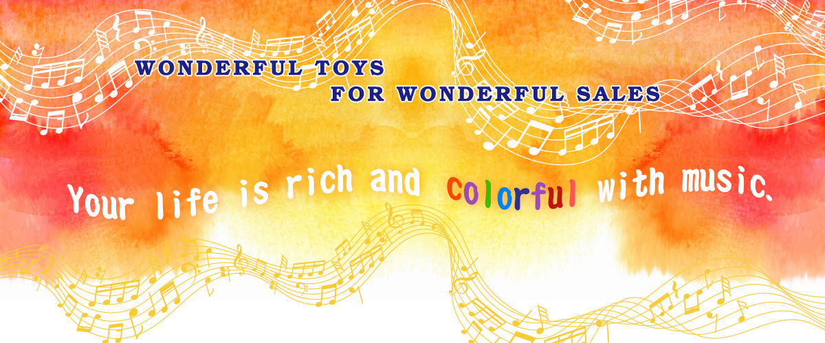 Your life is rich and colorful with music.-Wnoderful Toys
